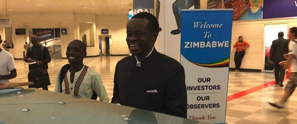 PHOTOS: Professor Patrick Lumumba lands in Harare