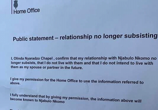 Tytan To Be Deported Back To Zim As Olinda Disowns Him In Home Office Statement?