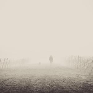 Spaziergänger im Nebel
