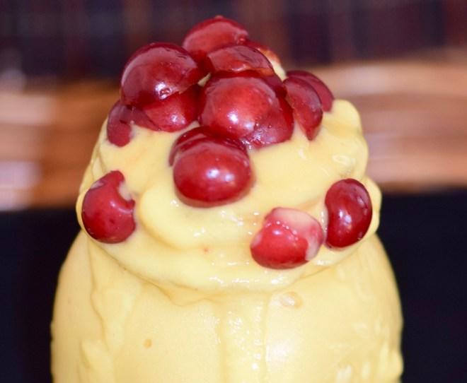 Rezepte: Süsses: Mango-Eis mit Kirschen