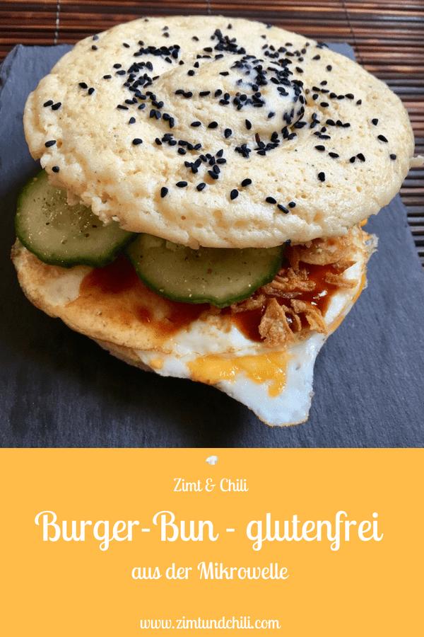 BURGER-BUN AUS DER MIKROWELLE - GLUTENFREI - Für einen guten #Burger ist das #Brötchen, sprich der #Bun, genauso wichtig wie der Patty. Der Bun darf sich nicht auflösen, wenn ordentlich Sauce auf dem Burger ist, und er muss weich und fluffig sein, damit man den gesamten Inhalt des Burgers damit gut festhalten kann.Dieser #BurgerBun ist #glutenfrei und in der #Mikrowelle #schnellundleicht gemacht. Das #Rezept für das #Burgerbrötchen eignet sich für die #cleaneating Ernährung.