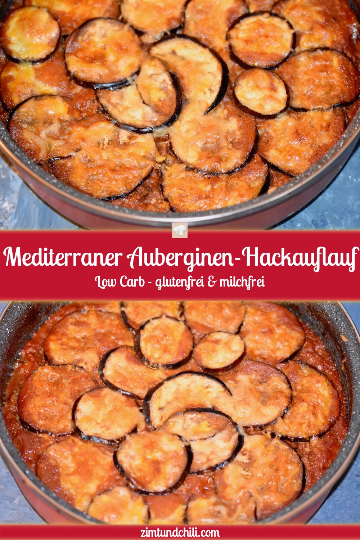 Mediterraner Auberginen Hackauflauf mit Tomaten - Auberginen - Hackfleisch - Tomaten - Schafskäse - Auflauf - Feta - Low Carb - glutenfrei - milchfrei - Rezept - abnehmen - laktosefrei - cleaneating - italienisch - Parmigiana di Melanzane
