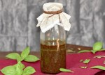 nussiges Dressing mit Kürbiskernöl - Salatdressing - Rezept - Senf - einfach - für Feldsalat - schnell - für Blattsalate - Vinaigrette - für Rucola