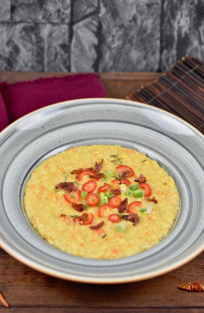 cremige Maissuppe mit Kokosmilch - Corn Chowder - Rezept - vegan - glutenfrei - amerikanisch - Maissuppe - einfach - gesund - Clean Eating - Slowcooker