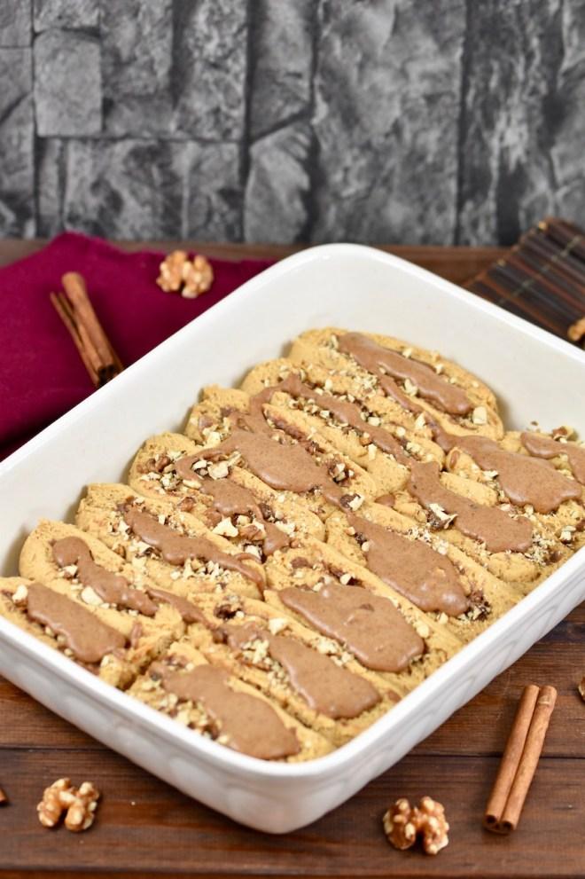 glutenfreie Zimtschnecken mit Karamell-Walnuss-Füllung - Zimtschnecken - glutenfrei - vegan - Rezept - mit Trockenhefe - Hefeschnecken - Hefeteig - Kanelbullar - Schneckennudel - Rollkuchen