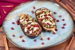 gefüllte Auberginen mit Hackfleisch - orientalisch - Rezept - gefüllte Auberginen - milchfrei - glutenfrei - Low Carb - gebackene Auberginen - Clean Eating