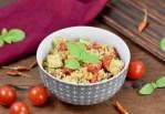 Quinoa-Kichererbsen-Salat - mit Avocado - Rezept - vegan - schnell - einfach - abnehmen - gesund - glutenfrei - Salat - Meal Prep