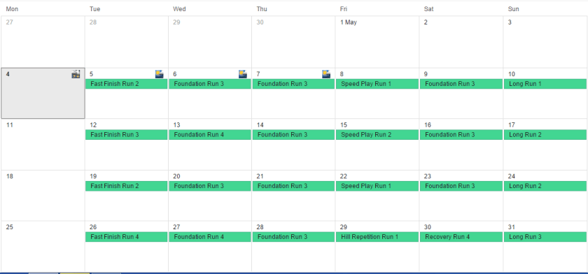 Successfully imported Garmin calendar into Google Calendar