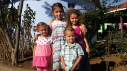 The kids got dressed up for the Missionary Training School graduation!