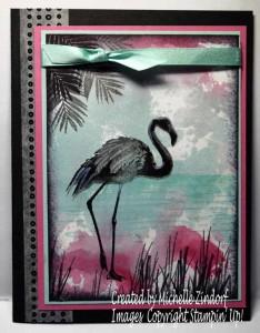 Smooshed Ink Flamingo