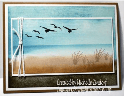 Sandpipers Stampin Up Card