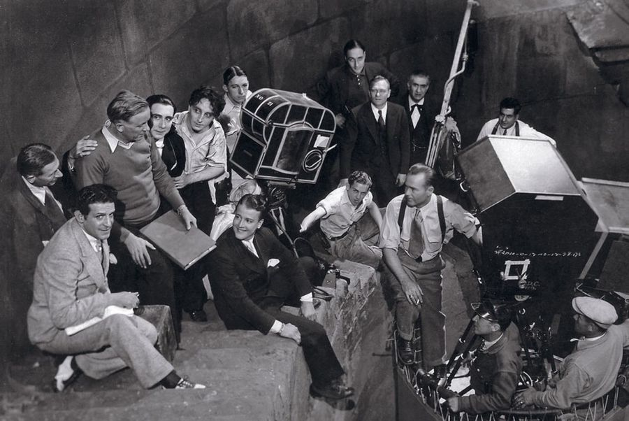 Fotografía del rodaje de la película Drácula, de George Melford