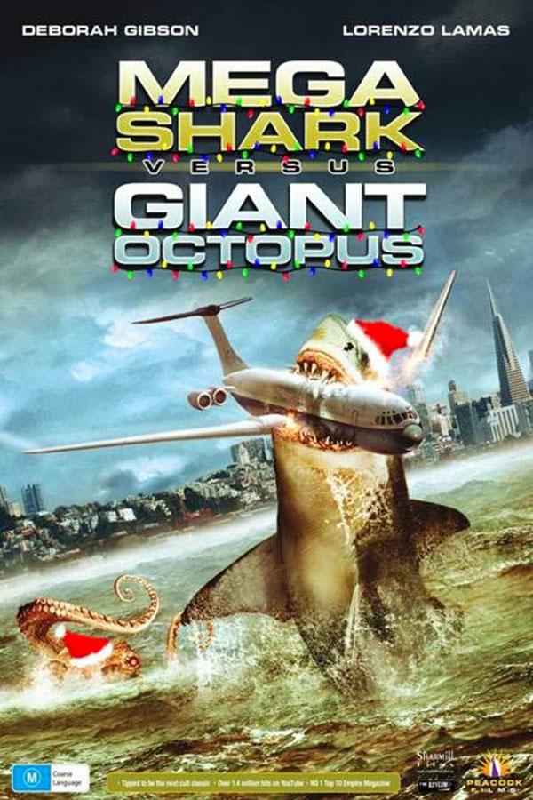 Megatiburón contra pulpo gigante - poster