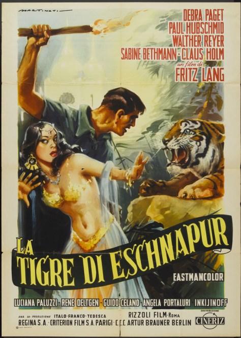 El tigre de Esnapur - poster