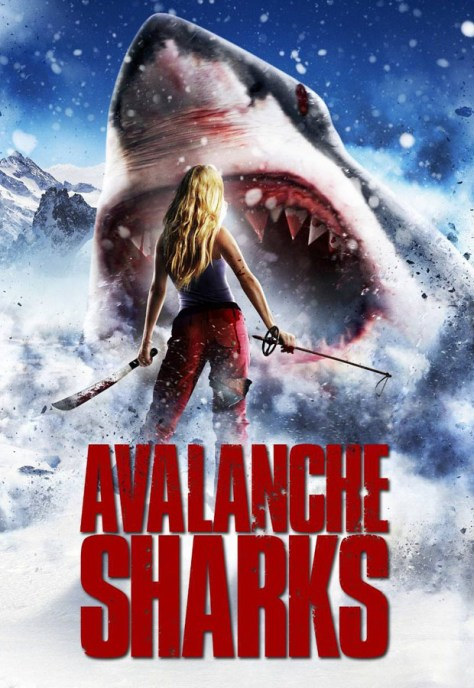 Avalanche sharks - poster