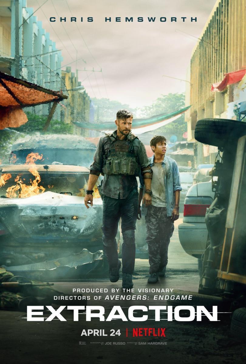 Cartel de la película Tyler Rake, de 2020