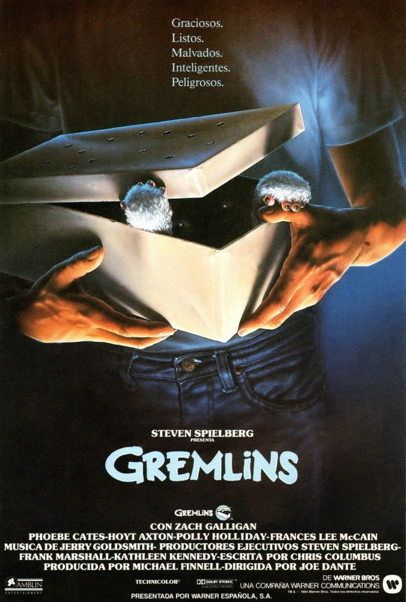 Cartel de Gremlins, de 1984