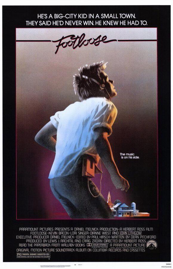 Cartel de la película Footloose, de 1984