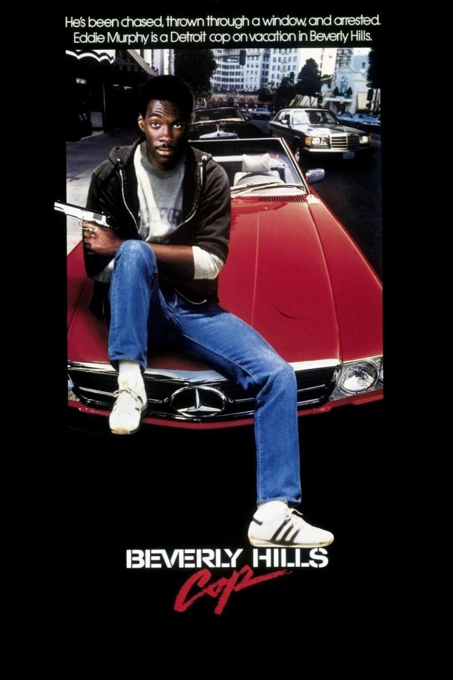 Cartel de Superdetective en Hollywood, de 1984