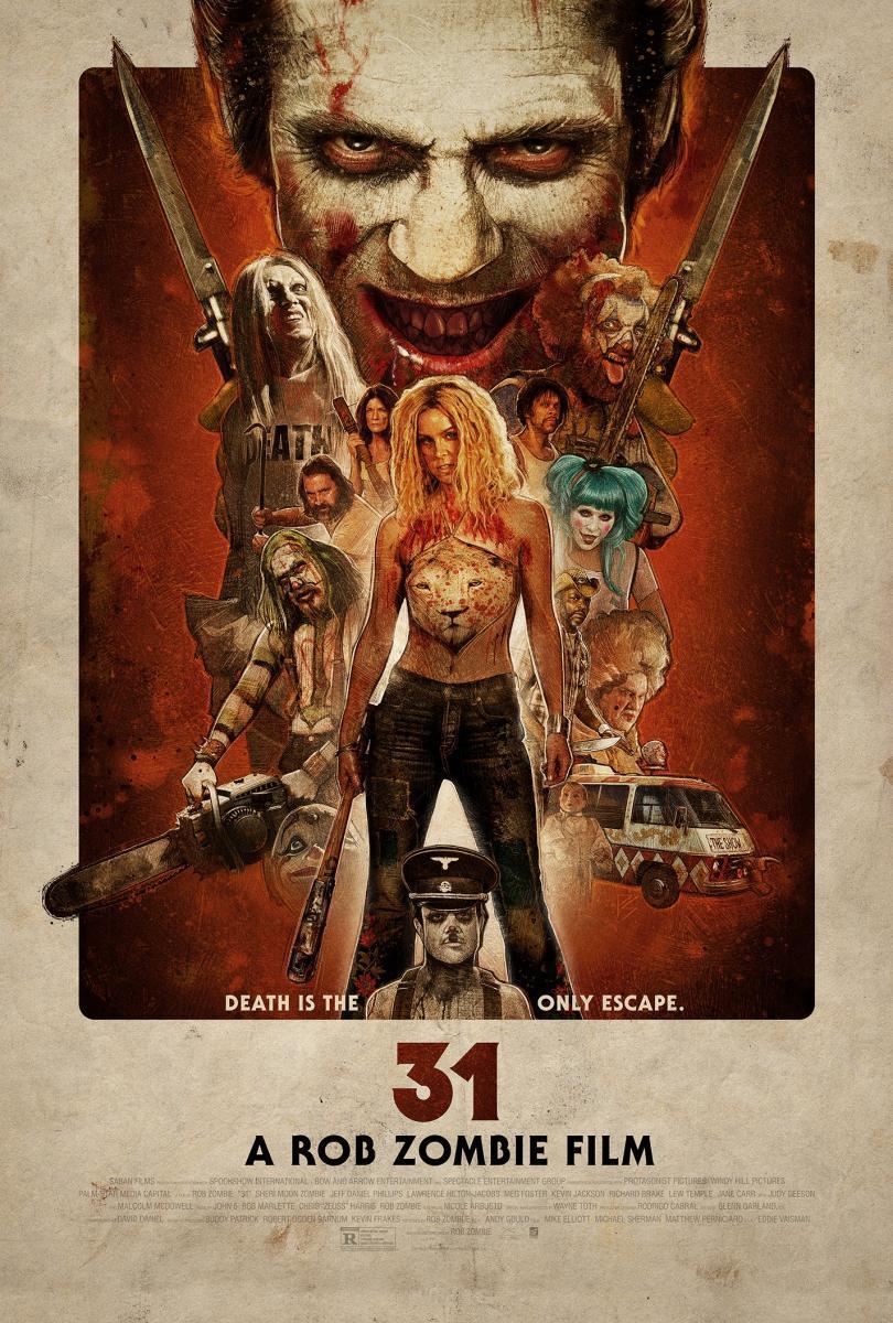 Cartel de 31, película de Rob Zombie