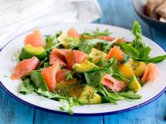 creamy avocado and salmon salad