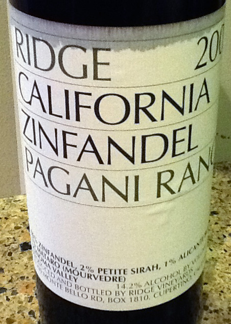 2005 Ridge Pagani Ranch Zinfandel