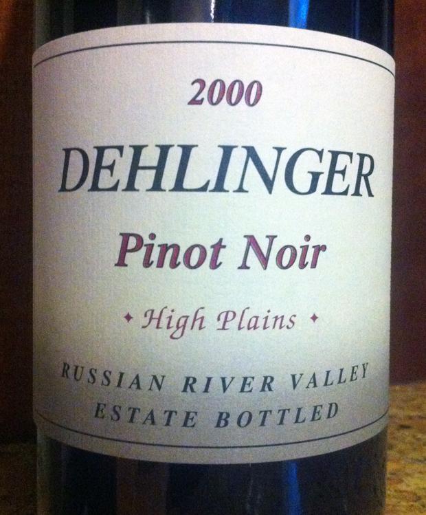 2000 Dehlinger Pinot Noir