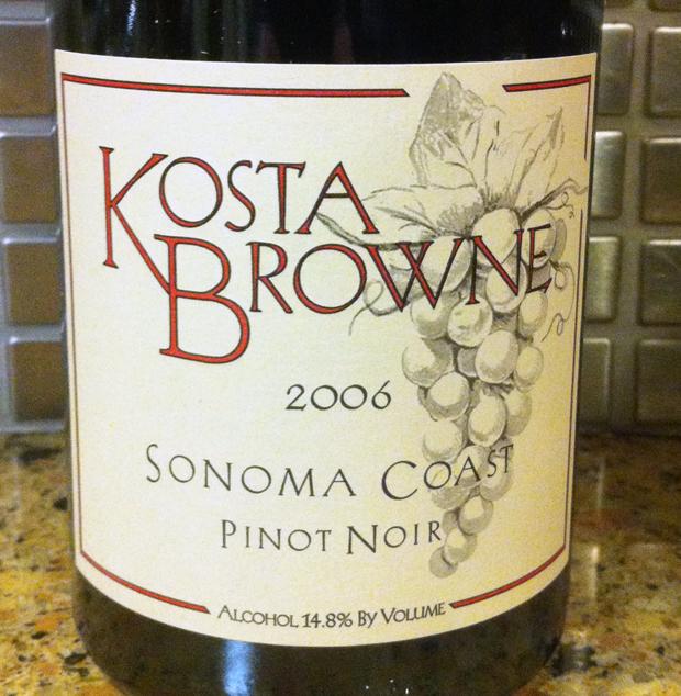 2006 Kosta Brown Sonoma Coast Pinot Noir
