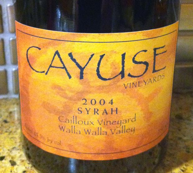 2004 Cayuse Cailloux Vineyard Syrah