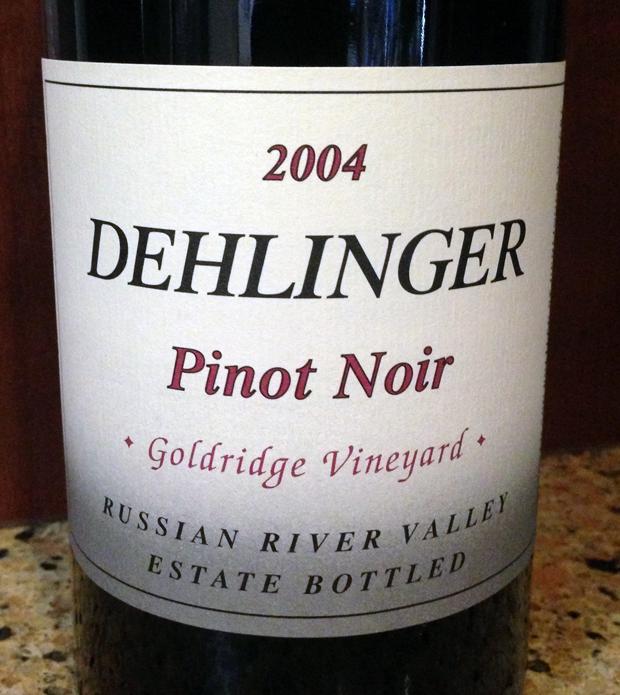 2004 Dehlinger Goldridge Vineyard Pinot Noir