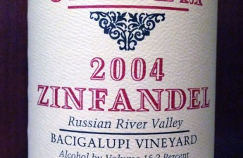 2004 Williams Selyem Bacigalupi Vineyard Zinfandel