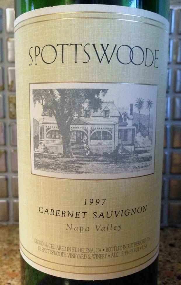 1997 Spostteswood Napa Valley Cabernet Sauvignon
