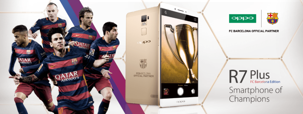 "The ""Smartphone of Champions"" unites the star power of FC Barcelona with the artful technology of OPPO"