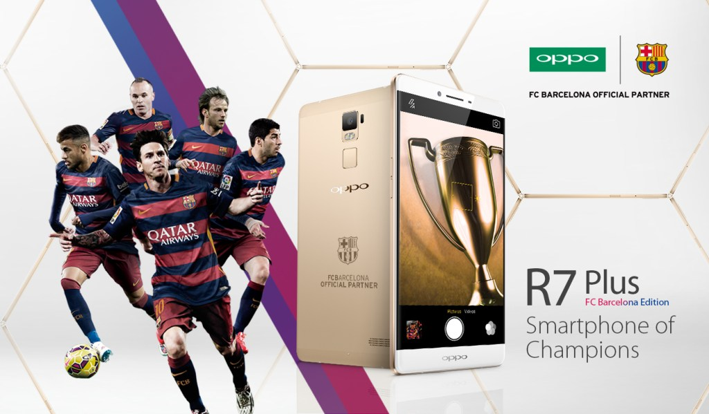The special edition of R7 Plus is the first product that come out of the OPPO and FC Barcelona's 3 year pa