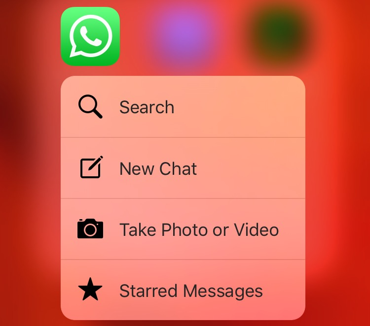 WhatsApp-2.12.14-3D-Touch-shortcut-menu-Home-screen-iPhone-6s-screenshot