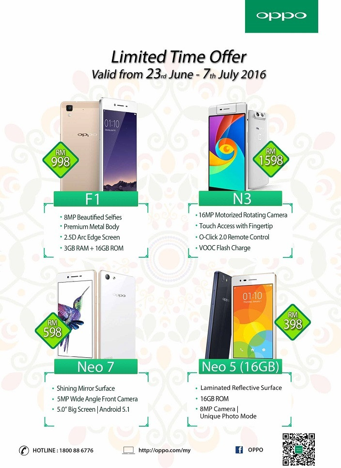 OPPO Raya Promotion with descriptions