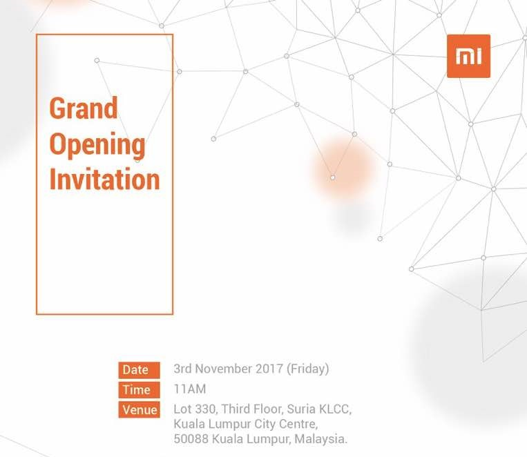 An Invitation to the Official Opening of Xiaomi KLCC (1)
