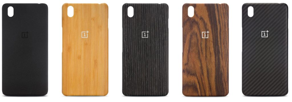 OnePlus-X-Sandstone-Bamboo-Black-Apricot-Rosewood-and-Karbon-cases