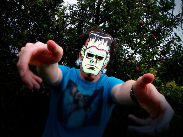 Frankenstein Paper Halloween Monster Masks