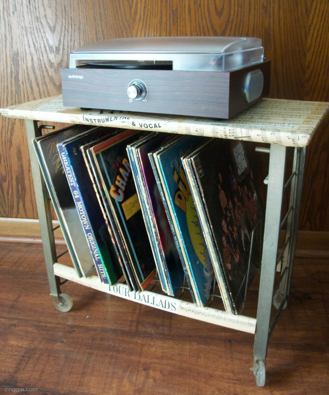 Decoupage Record Stand