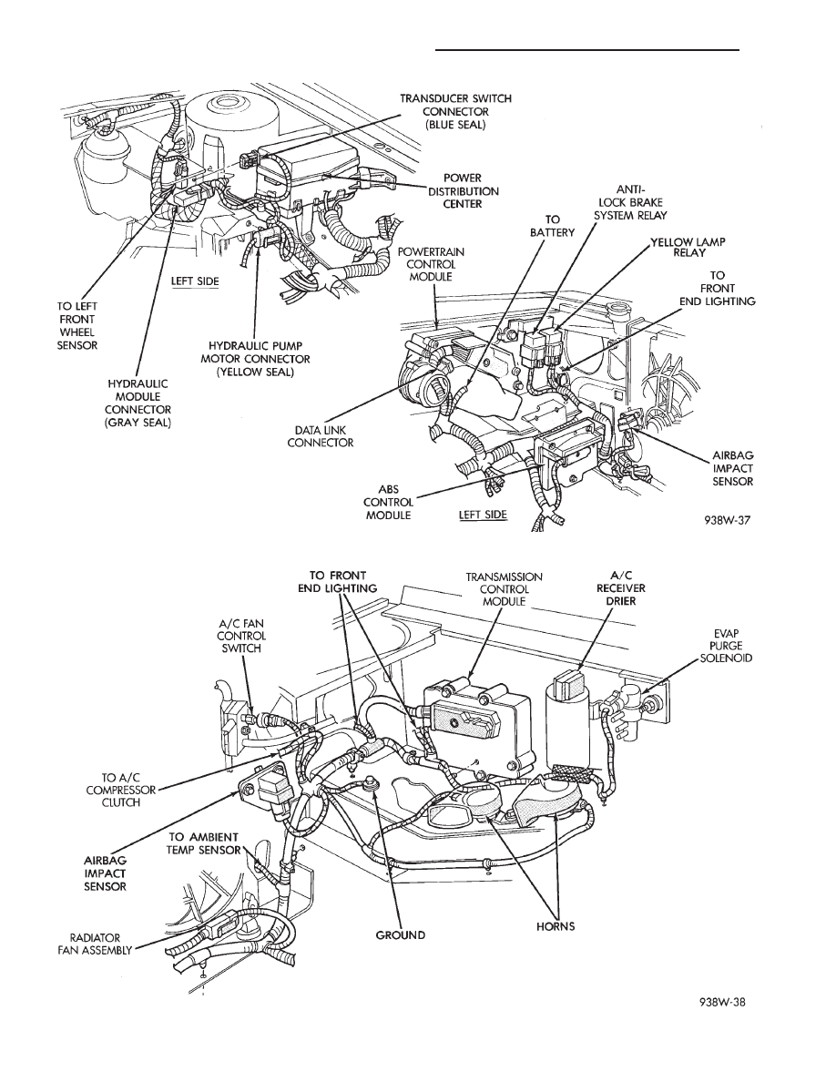 22 engine partment wiring 3 0l and 3 3l 3 8l ac body