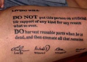 levend testament tattoo vergankelijkheidsdatg