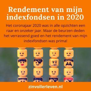 Rendement indexfondsen beleggingen Het coronajaar 2020 beurzen zinvollerleven.nl geldzaken