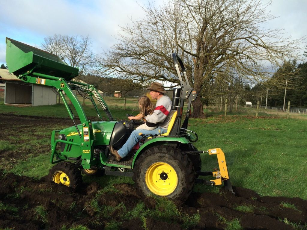 A Good Garden starts with a Tractor!