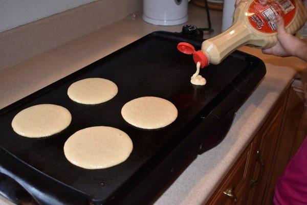 Whole Wheat Pancakes pouring