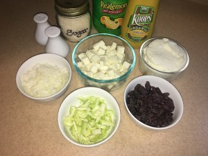 Vegetarian Chicken Salad sandwich ingredients