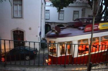 Lisbon, Portugal A tram goes up, a tram goes down, It's nearly 1 a.m. and here am I Hitchin' a ride, hitchin' a ride, gotta get me home by the morning light