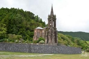 Chapel of Nossa Senhora das Vitórias, built by José do Canto beside Furnas Lake, as a mausoleum Furnas, Sao Miguel, Azores