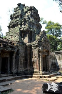 As with most other ancient temples in Cambodia, Angkor Wat has faced extensive damage and deterioration by a combination of plant overgrowth, fungi, ground movements, war damage and theft. The war damage to Angkor Wat's temples however has been very limited, compared to the rest of Cambodia's temple ruins, and it has also received the most attentive restoration.