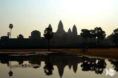 Past the libraries are two lakes, reflecting the silhouette of the of Angkor Wat's towers offering a wonderful photo opportunity capturing the building reflections on them.